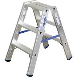 Dvojna aluminijasta lestev, delovna višina (maks.): 2.25 m Krause dvojna aluminijasta lestev (ALU), 2X3 STU 124715 srebrne barve