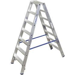 Dvojna aluminijasta lestev, delovna višina (maks.): 3.15 m Krause dvojna aluminijasta lestev (ALU), 2X7 STU 124753 srebrne barve
