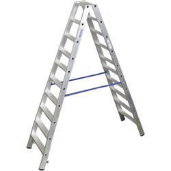 Dvojna aluminijasta lestev, delovna višina (maks.): 3.85 m Krause dvojna aluminijasta lestev (ALU), 2X10 ST 124777 srebrne barve