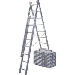 Krause 033383 aluminij večnamenska lestev vklj. prečna letev Delovna višina (maks.): 5.40 m srebrna 12 kg