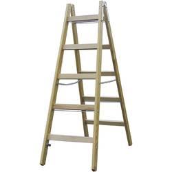 Lesena dvojna lestev, delovna višina (maks.): 2.75 m Krause dvojna aluminijasta lestev (z dodatki iz lesa), 2 X 4 SPRO 170064 iz