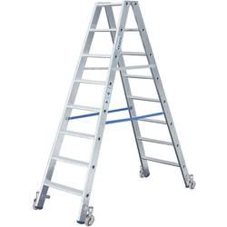 Dvojna aluminijasta lestev, mobilna, delovna višina (maks.): 2.95 m Krause 124845 srebrne barve 10.3 kg