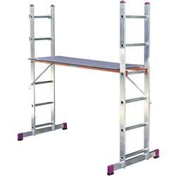 Krause 082015 aluminij večnamenska lestev vklj. prečna letev Delovna višina (maks.): 3.75 m alu sivo bela 17 kg