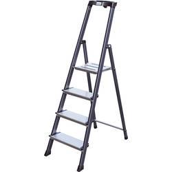 Aluminijasta samostoječa lestev, delovna višina (maks.): 2.85 m Krause 126429 srebrne barve 4.2 kg
