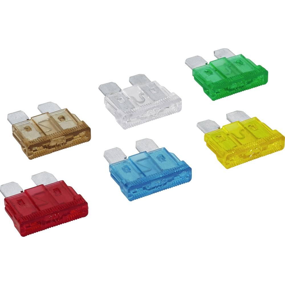Avtomobilske ploščate varovalke, 6-delni komplet 7,5, 10, 15, 20, 25, 30 A