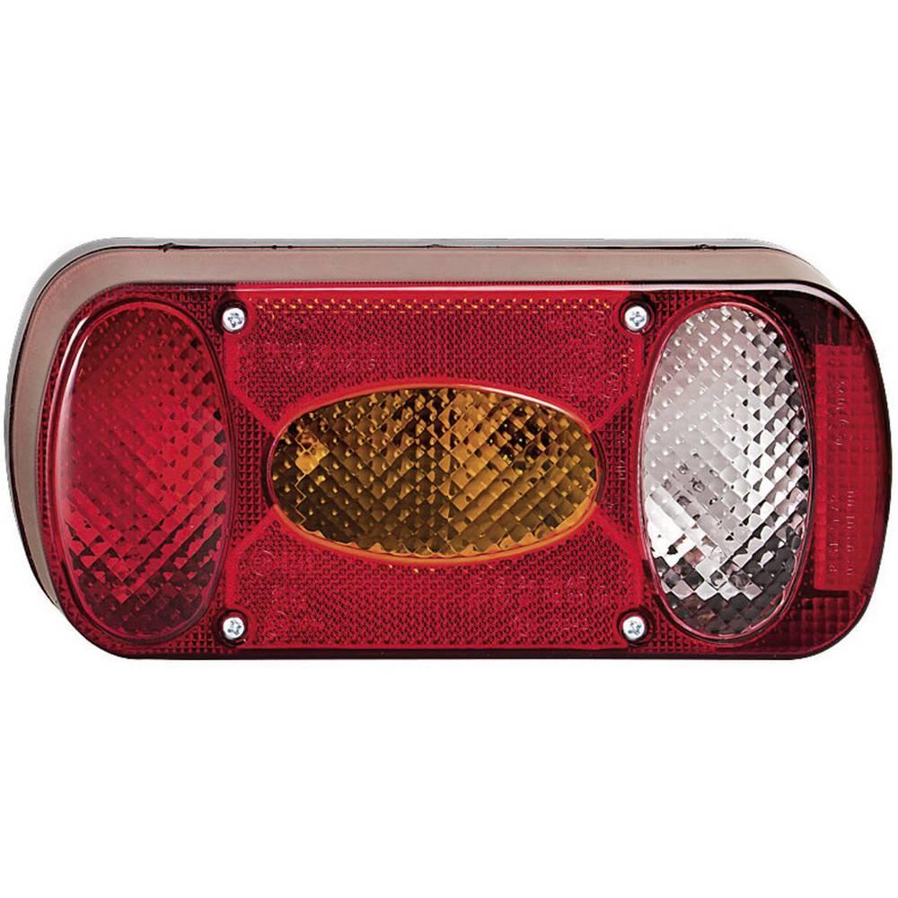 Zadnja luč za priklopnike, luč za vzvratno vožnjo, luč za registrsko tablico, zadnja meglenka, smernik, zavorna luč, rdeča, oran