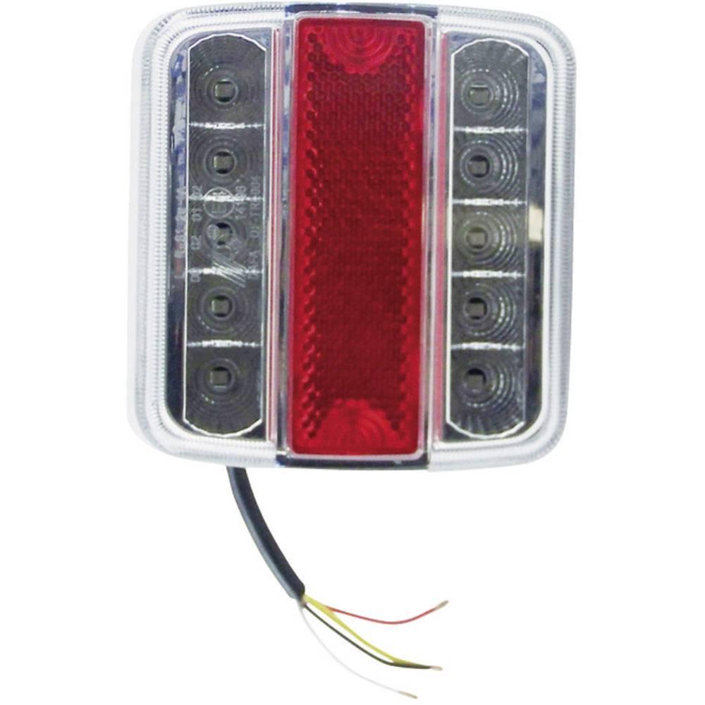 LED Anhænger-baglygte Berger & Schröter højre Rød, Sølv