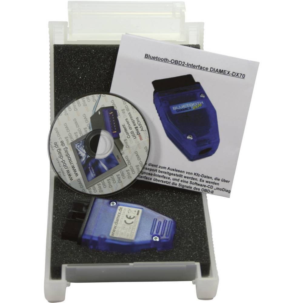 Bluetooth vmesnik Diamex OBD II DX70, primeren za vsa vozilas priključkom OBD II