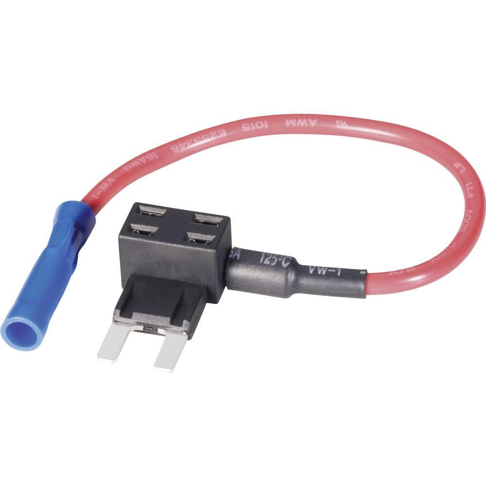 CE Adapter za ploščato varovalko z odcepom, prečni prerez kabla: 1,5 mm2 mini varovalka