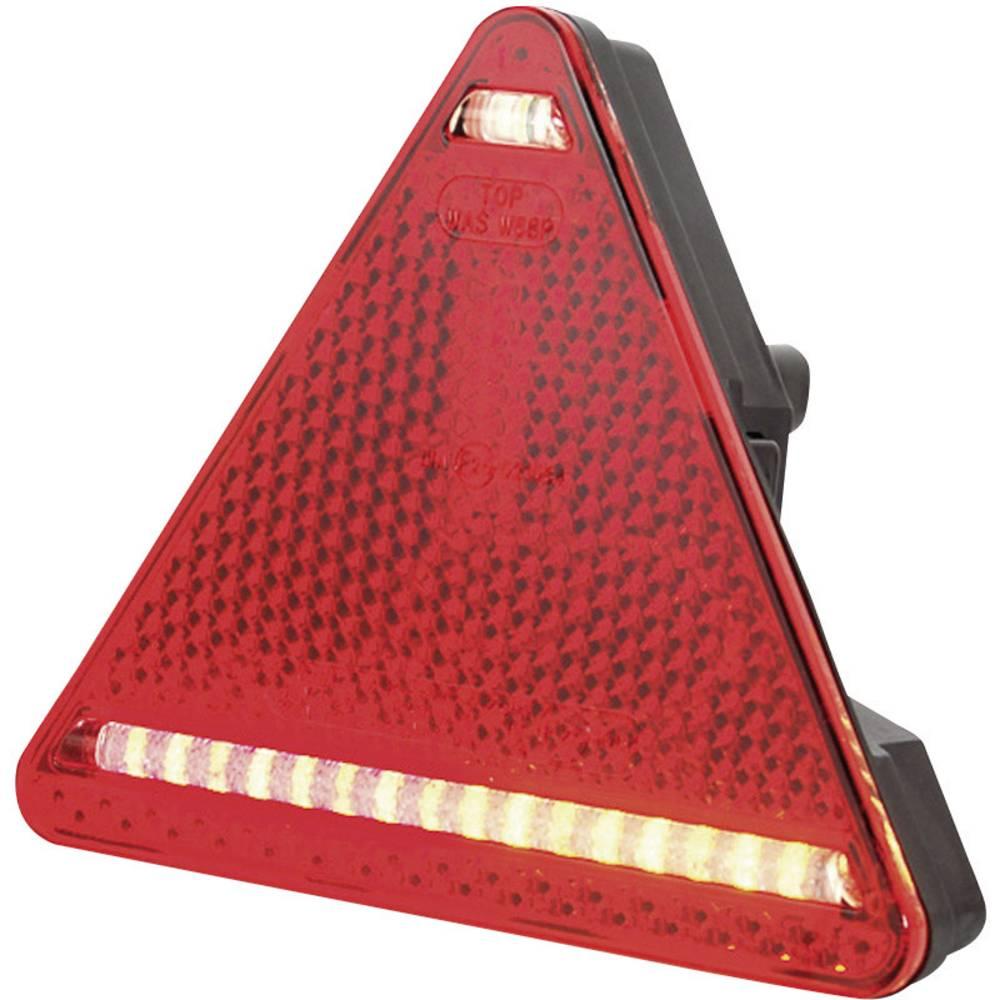Zadnja luč za priklopnike, zavorna luč, smernik, trikotni odsevnik, rdeča, bela, 12 V, 24 V SecoRüt
