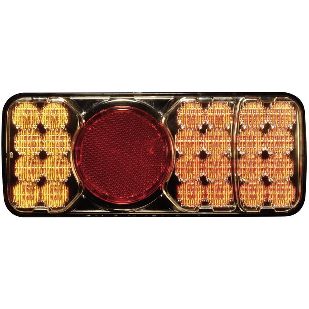 Zadnja luč za priklopnike, zavorna luč, luč za vzvratno vožnjo, smernik, odsevnik, rdeča, oranžna 12 V, 24 V SecoRüt