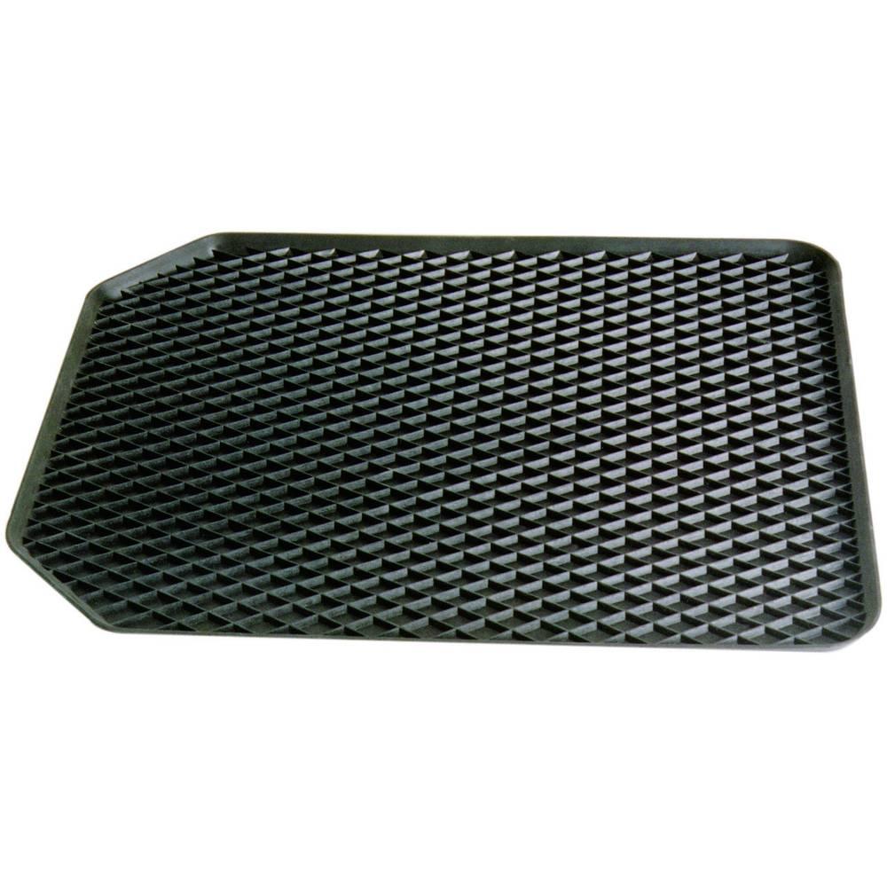 Fußschalenmatte (value.1294422) Universal Gummi (L x B x H) 55 x 45 x 4.5 cm Sort 16524