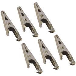 Krokodil-sponka 5 A vzmetne sponka (D x Š) 45 mm x 5 mm