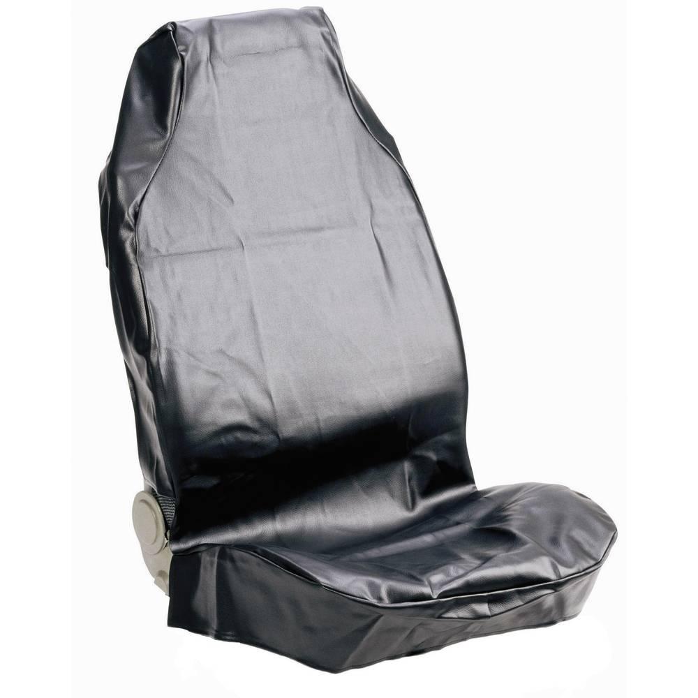 Zaštitna navlaka sjedala za radionicu, umjetna koža, crna