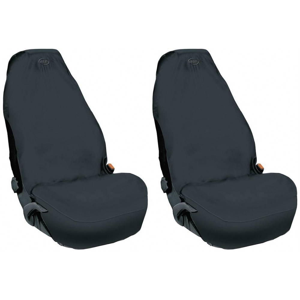 Sædeskåner af fleece Sort 1 pair