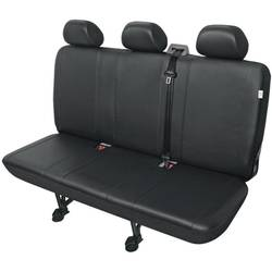 Zaštitna navlaka za sjedala kombija, crne boje, za stražnju klupu sa 3 sjedala 22813