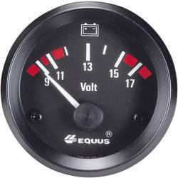 Equus 842060 ugradbeni instrument za motorna vozila voltmetar Mjerno podučje 9 - 17 V standard žuta, crvena, zelena 52 mm