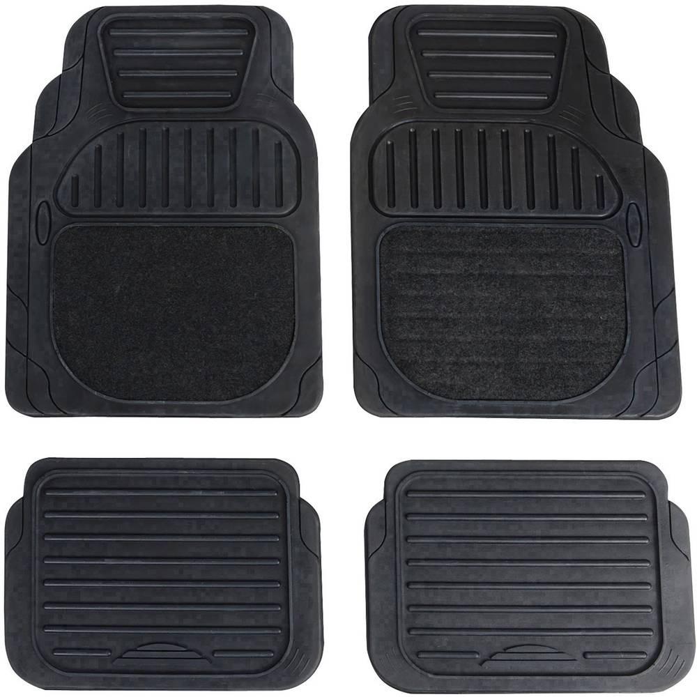Univerzalni avtomobilski predpražnik Deluxe, črne barve, 4-delni komplet 74917