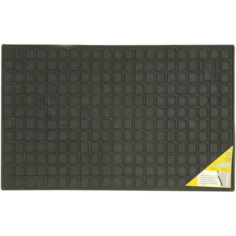 Univerzalni predpražnik iz gume v obliki satja Clip, (D x Š ) 41 cm x 60 cm, črne barve 74575