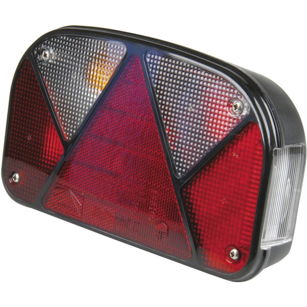 Zadnja luč za priklopnike, smernik, zavorna luč, luč za registrsko tablico, trikotni odsevnik, zadnja meglenka rdeča