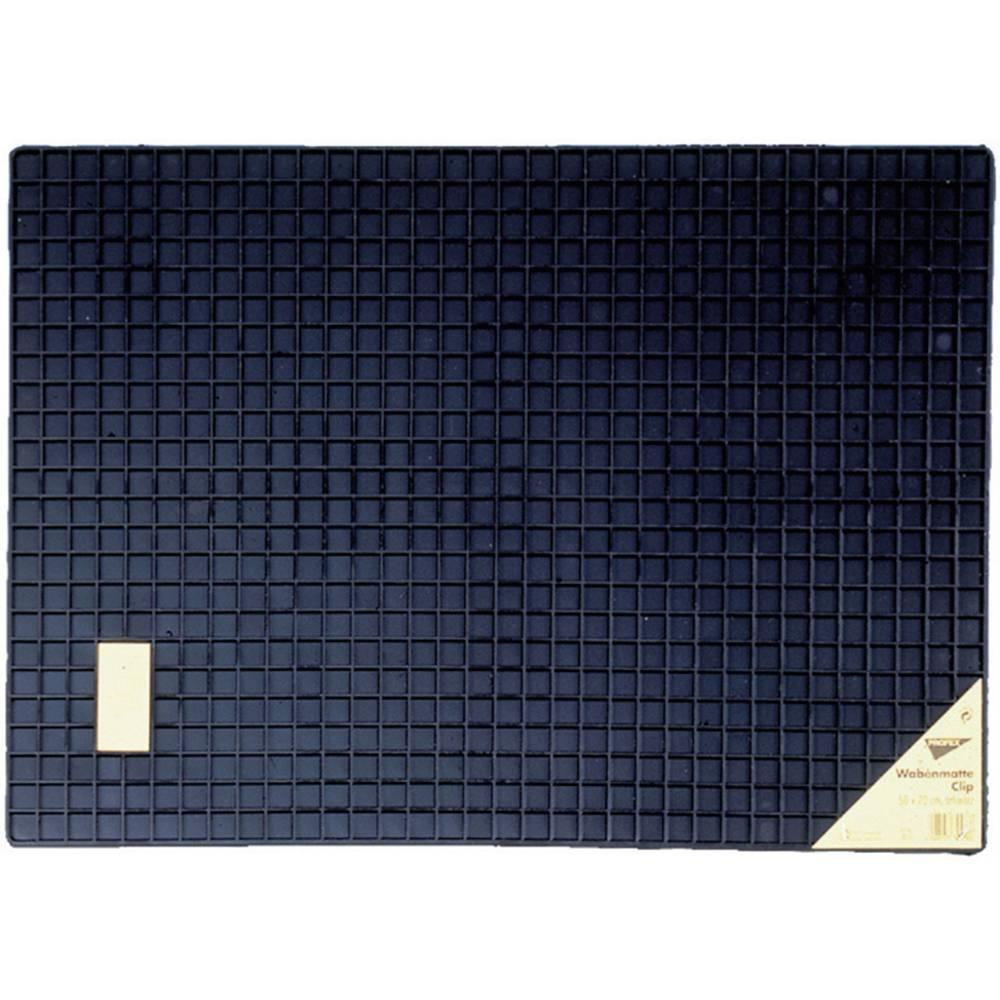 Univerzalni predpražnik iz gume v obliki satja Clip, (D x Š ) 50 cm x 70 cm, črne barve 74576
