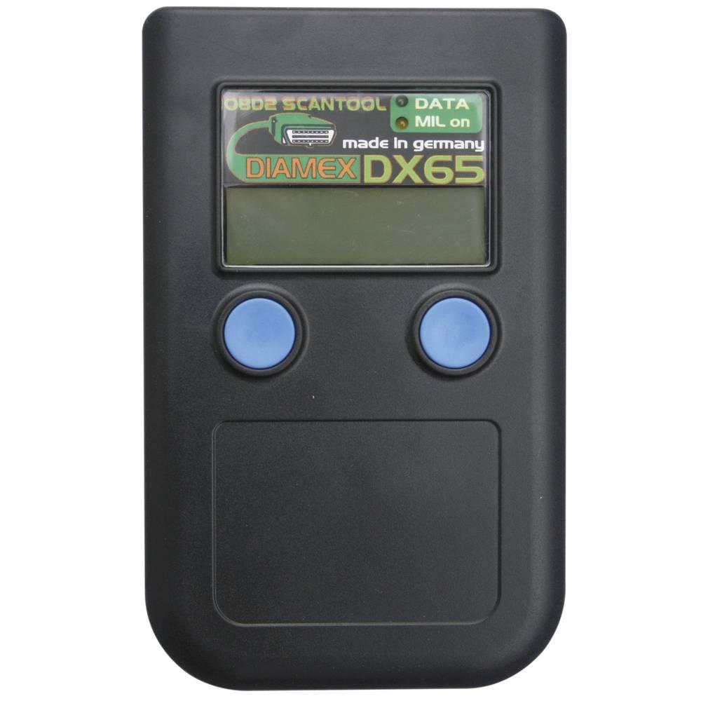 Ročni radijski skener Diamex DX65, primeren za vsa vozila spriključkom OBD II 7101