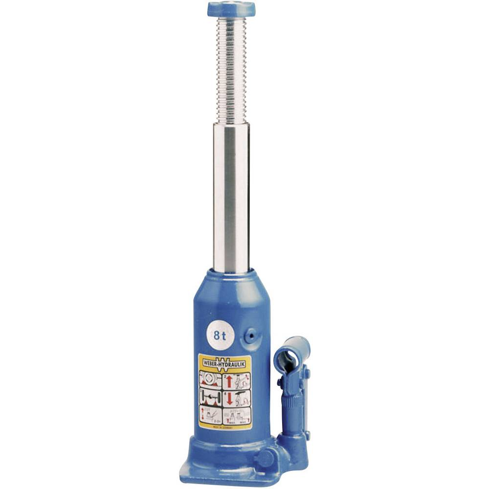 Hydrauliske Jacks - Standart 8 t Weber Hydraulik AX 8-220 Kunzer Wagenheber m. Pumphebel 8 T