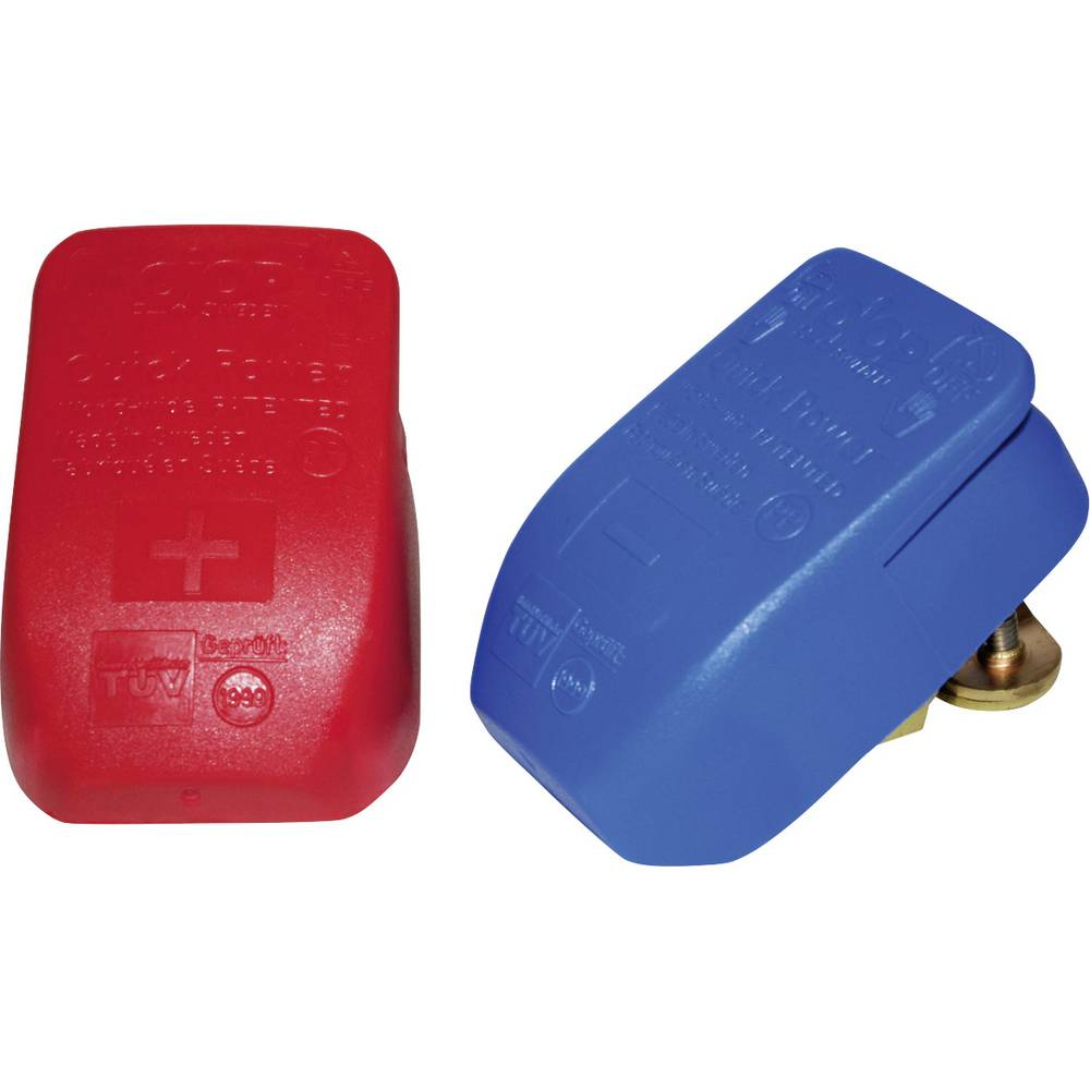 Batteri-lynforbinder pluspol, minuspol Hurtiglukning, Med plastafdækning Lilie 30100C 1 pair
