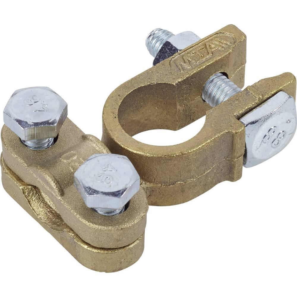Akumulatorska sponka, ravna/Minus (Š x V x G) 38 x 20 x 52 mm