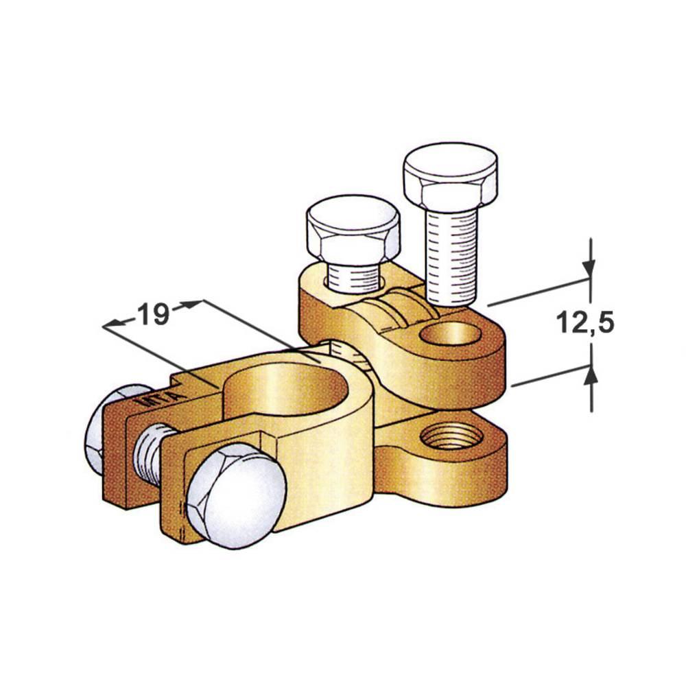 Akumulatorska sponka, ravna/Plus (Š x V x G) 38 x 20 x 52 mm