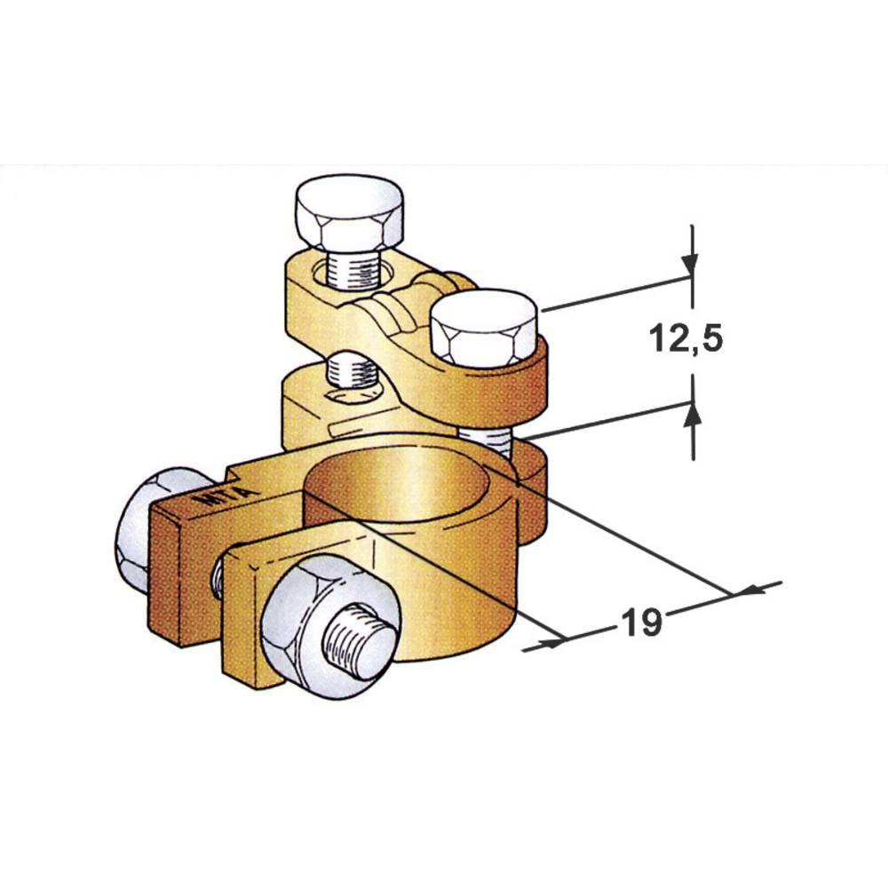 Akumulatorska sponka, kotna/Plus (Š x V x G) 48 x 20 x 58 mm
