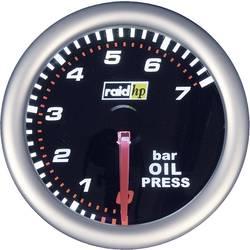 raid hp 660241 ugradbeni instrument za motorna vozila mjerač tlaka ulja Mjerno podučje 7 - 0 bar nightflight bijela, crvena 52 m