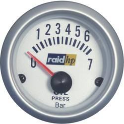 raid hp 660219 ugradbeni instrument za motorna vozila mjerač tlaka ulja Mjerno podučje 7 - 0 bar srebrna serija plavo-bijela 52