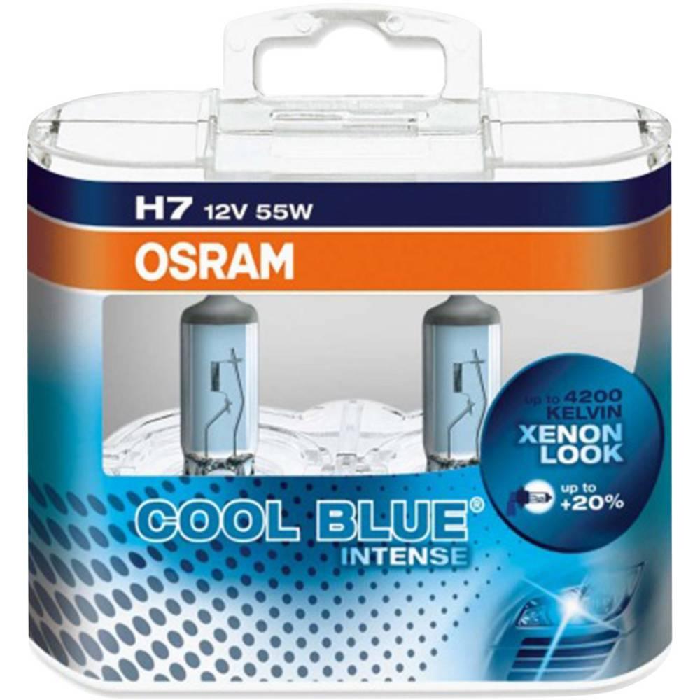 Avtomobilska žarnica Osram Cool Blue Intense H7 12 V 1 par, PX26d (Ø x D) 12 mm x 59 mm
