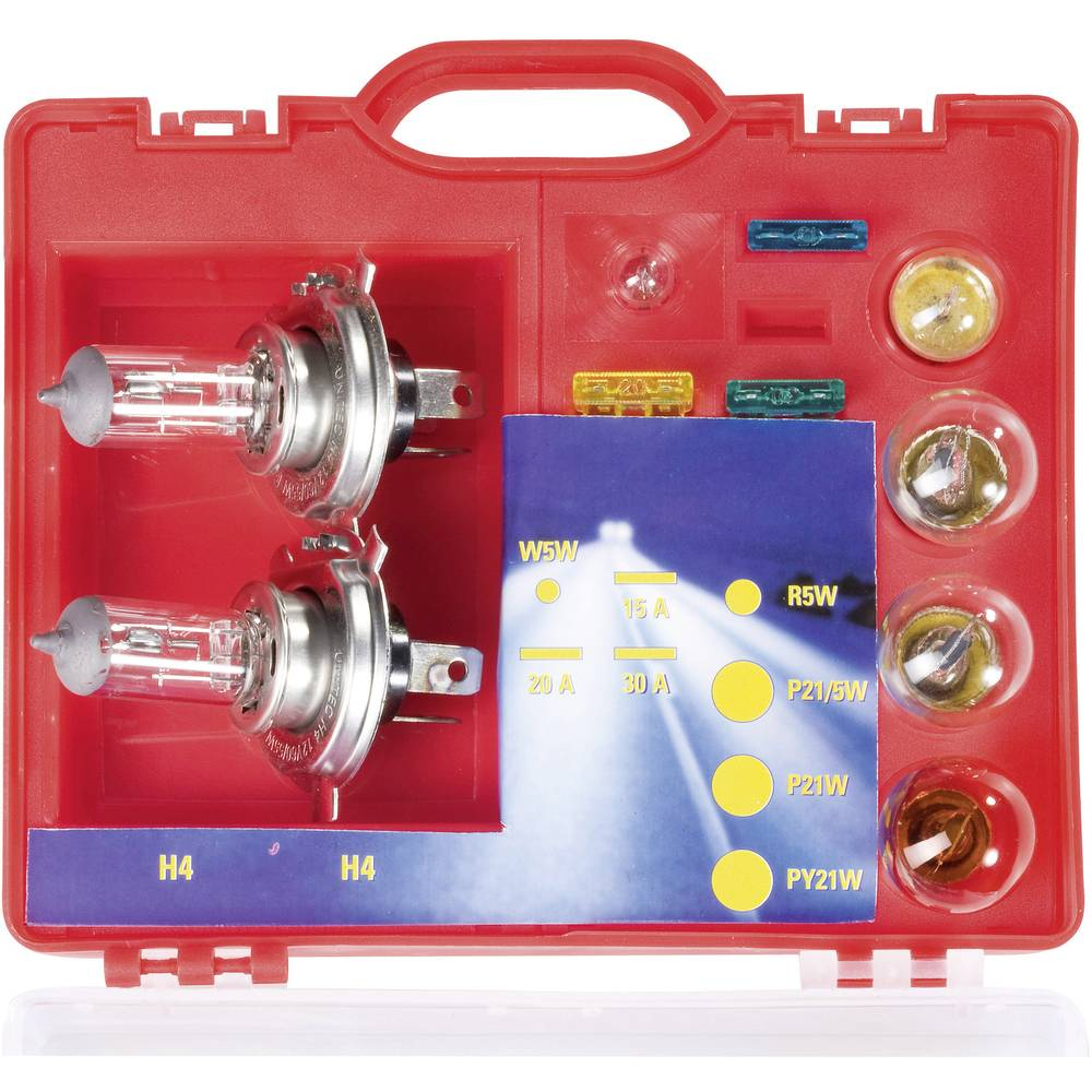 Kovček z nadomestnimi žarnicami Unitec H4 H 4 73084
