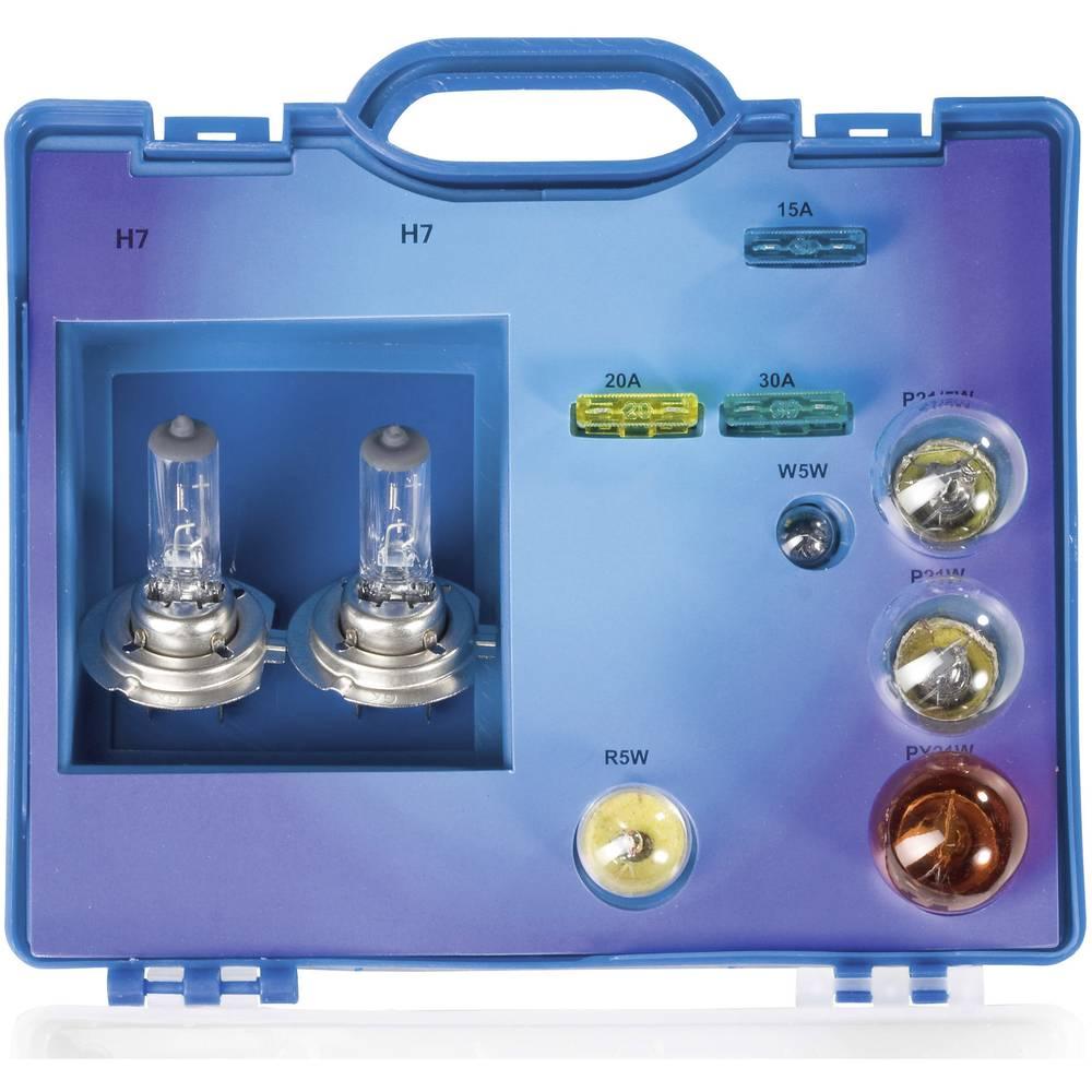 Kovček z nadomestnimi žarnicami Unitec 2 x H7 H 7 73085