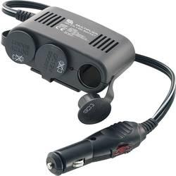 3-delni avtomobilski razdelilnik, USB vtičnica, maks. tokovna obremenitev: 10 A za cigaretni vžigalnik, USB-A