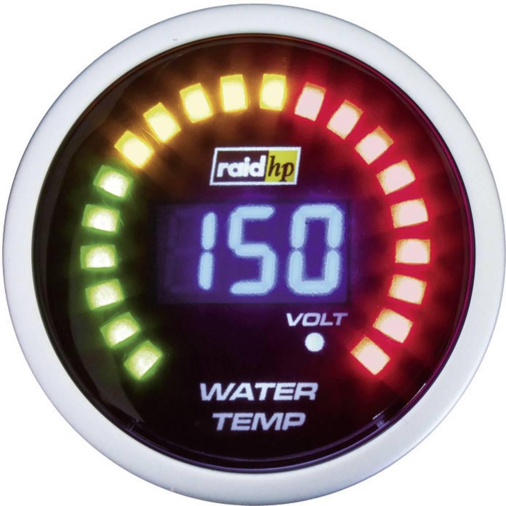 Bil indbygningsinstrument Vandtemperatur måleområde 40 - 150 °C raid hp 660502 NightFlight Digital Blue Blå, Hvid 52 mm