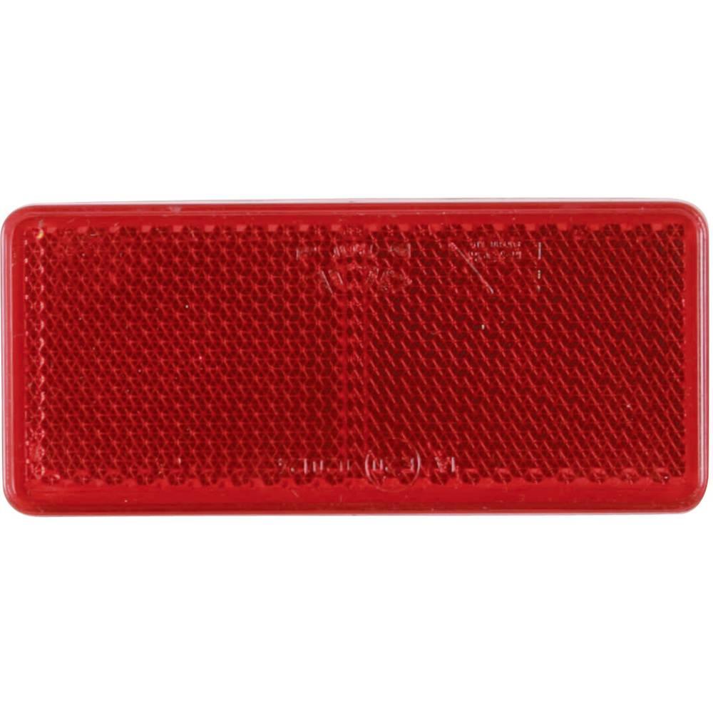 SecoRüt Odsevnik za priklopnike, rdeča (D x Š) 90 mm x 44 mm
