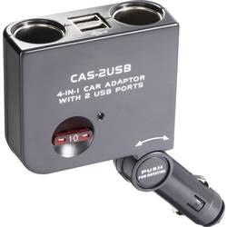2-delni avtomobilski razdelilnik, USB vtičnica, maks. tokovna obremenitev: 10 A za cigaretni vžigalnik, USB-A