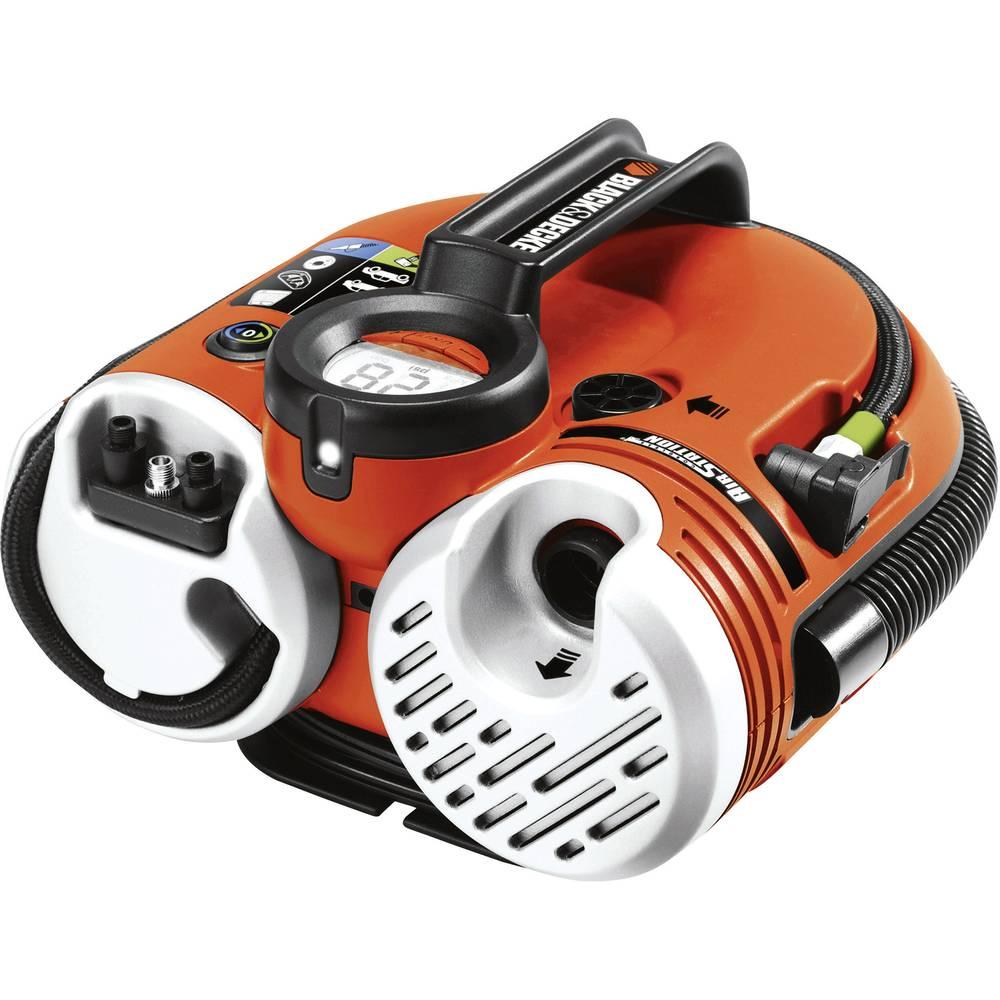 Kompressor 11 bar Black & Decker ASI500-XJ Digitalt display , Ledningsrum/-optagelse, Med arbejdslampe, Automatisk slukning, 2 d