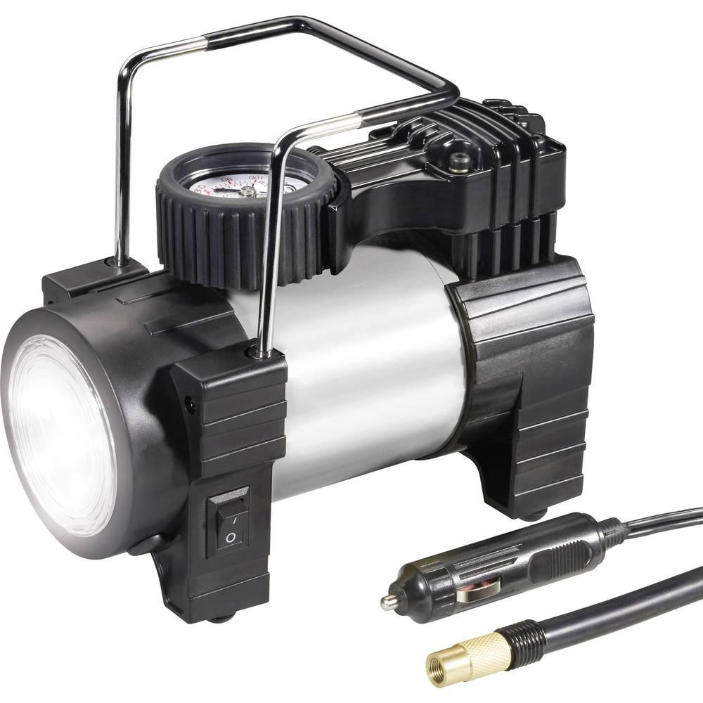 Kompressor 10 bar 03:12:012 Med arbejdslampe, Analog trykmåler, Overbelastningsbeskyttelse , Opbevaringskasse/-taske