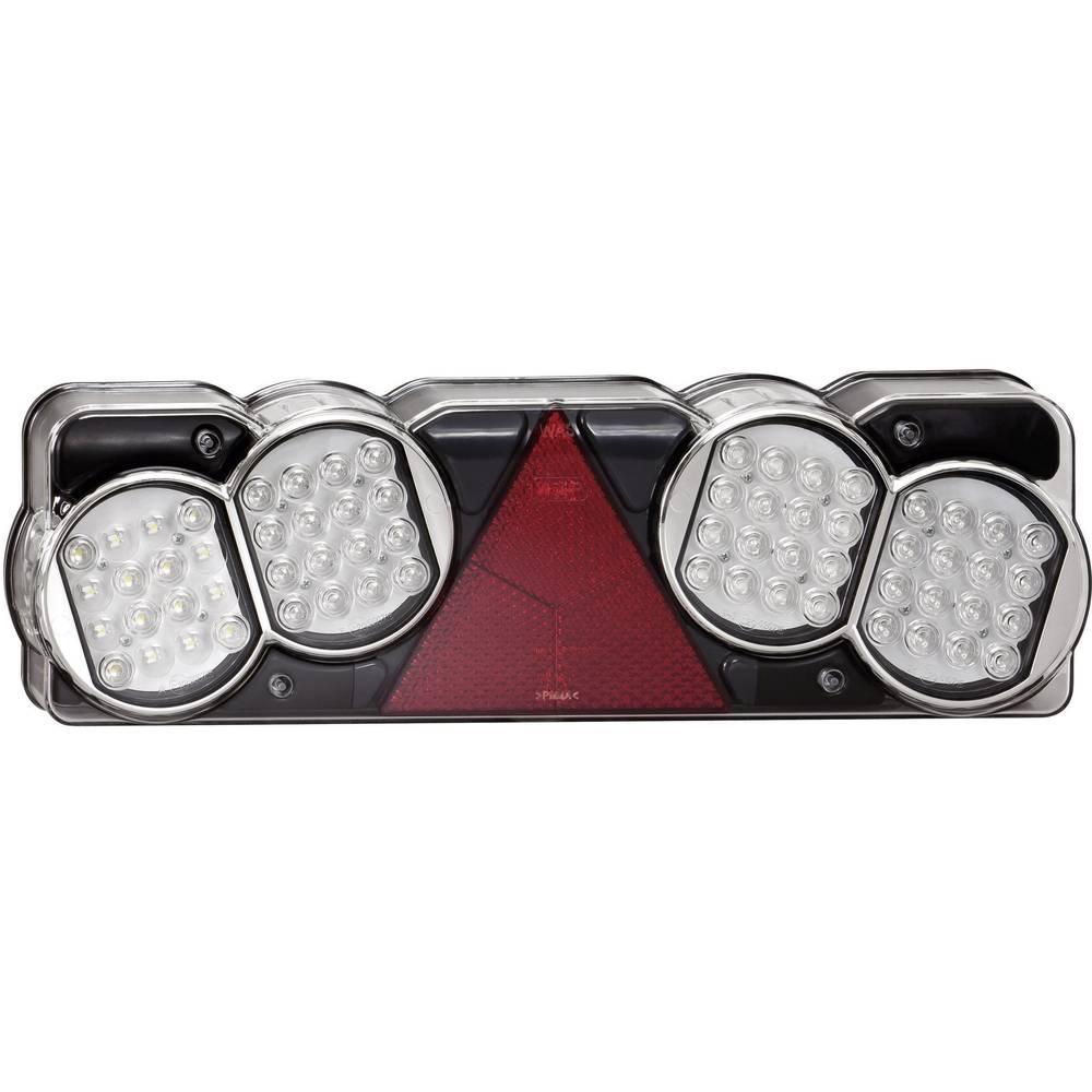 LED Anhænger-baglygte Bremselys, Blinklys, Reflektor , Baglygte , Baklys bagved, benstre 24 V SecoRüt Klar glas