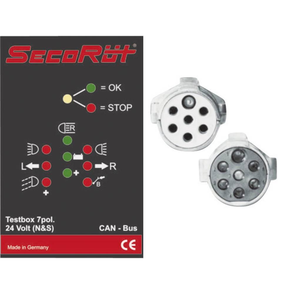 Tester za vlečna vozila SecoRüt, 7-polni za vtičnice tipa N in S