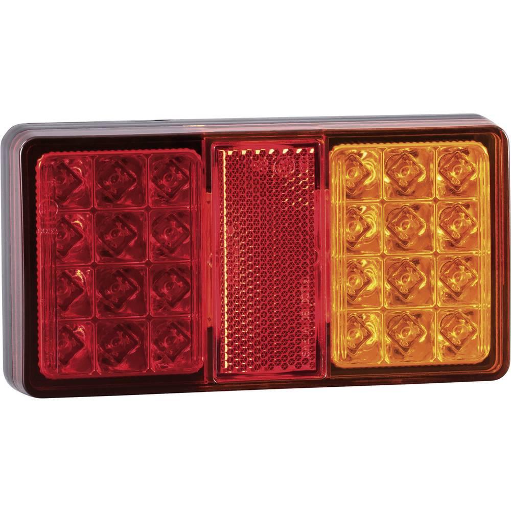 Zadnja luč za priklopnike, zavorna luč, odsevnik, smernik, rdeča 12 V, 24 V SecoRüt