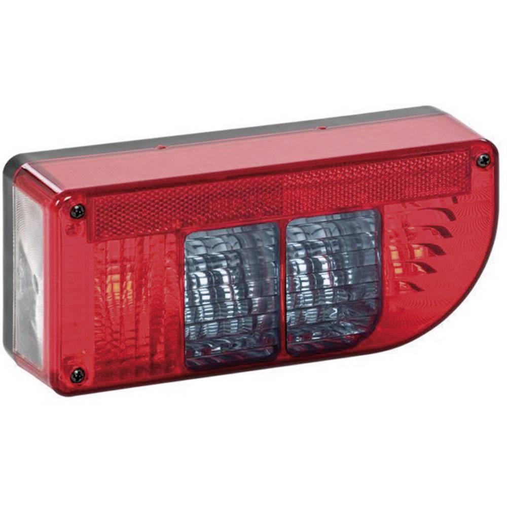 Zadnja luč za priklopnike, smernik, zavorna luč, zadnja meglenka, luč za registrsko tablico, odsevnik, rdeča 12 V