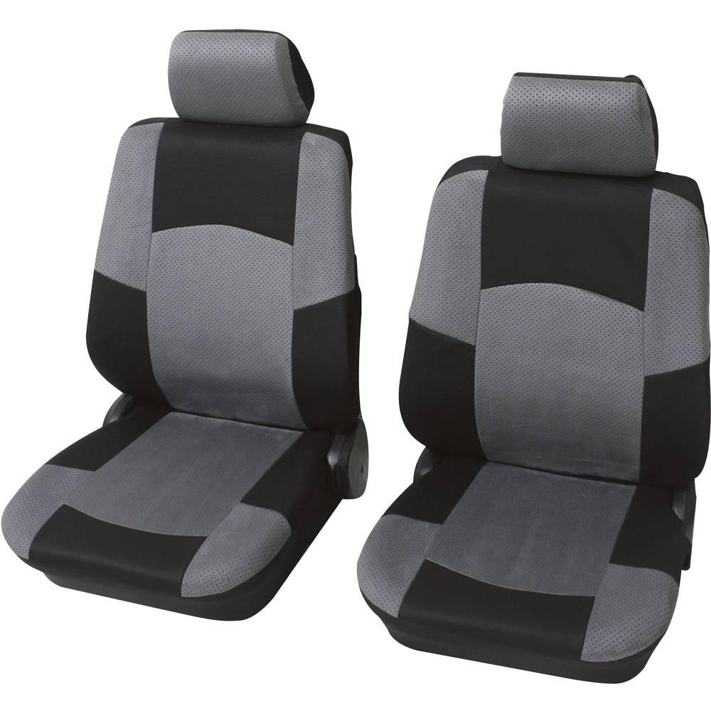 Enojna sedežna prevleka Petex Classic, črna/siva, 6-delni komplet 24271518