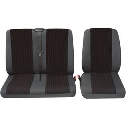 Sedežna prevleka Petex Profi 1, rdeča/antracitna, enojni/dvojni sedež, komplet 30071912