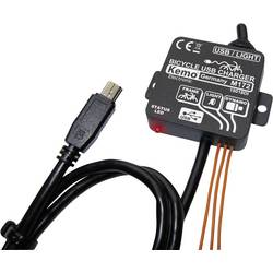 Regulator polnjenja za kolo Kemo M172 USB črne barve