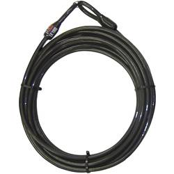 Ključavnica za kolo Security Plus LK-1000, jekleni kabel s plastično oblogo, 0289